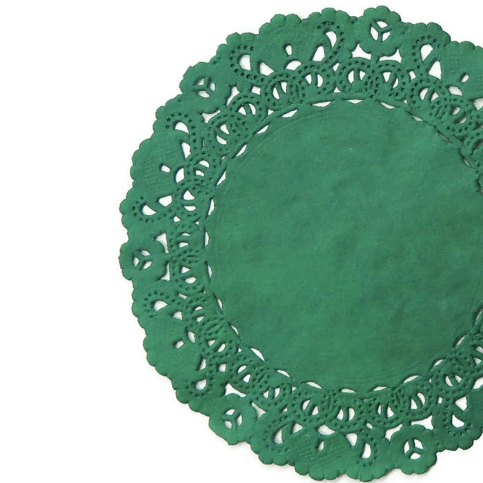 EMERALD Green Normandy Doilies