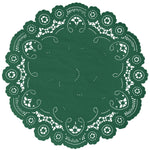 EMERALD GREEN French Lace Doilies