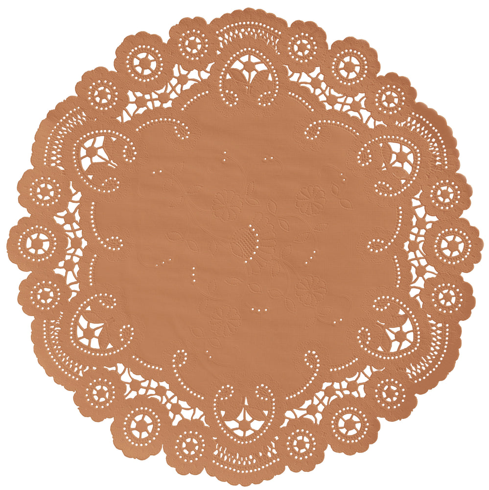FALL OAK LEAF French Lace Doilies