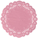 FLAMINGO PINK French Lace Doilies