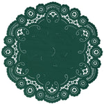 FOREST GREEN French Lace Doilies
