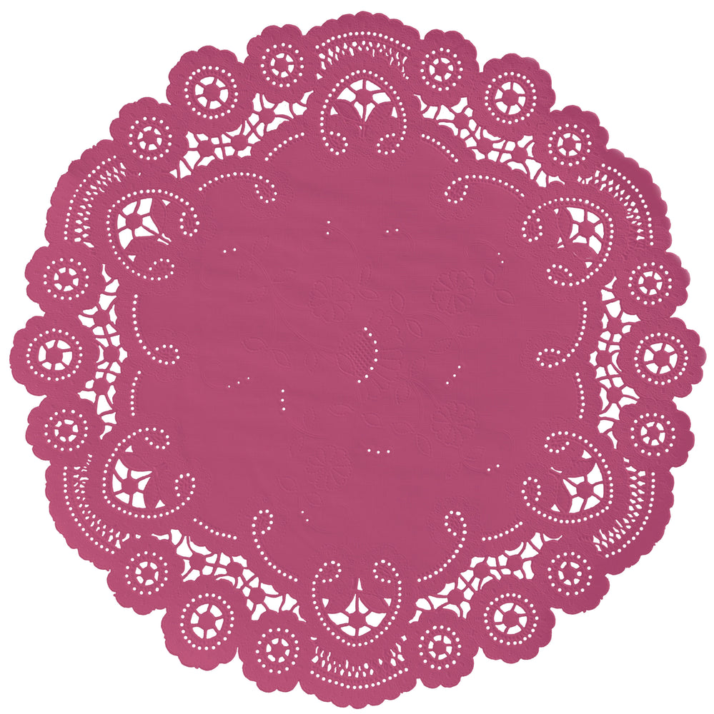 FROSTED RASPBERRY French Lace Doilies