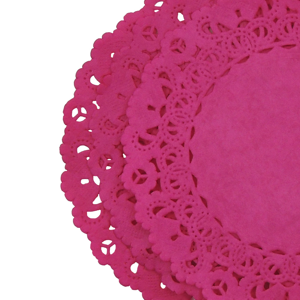 "MAGENTA Round Paper Doilies | Normandy | Chargers, Placemats, Invitations | 4"", 5"", 6"" 8"", 10"", 12"", 14"", 16"""