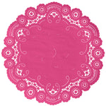 FUCHSIA BERRY French Lace Doilies