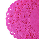 "FUCHSIA PINK Round Paper Doilies | Normandy | Chargers, Placemats, Invitations | 4"", 5"", 6"" 8"", 10"", 12"", 14"", 16"""