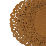 "Fall Oak Leaf Brown paper doilies in 4"" to 16"" sizes"