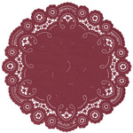 GARNET RED French Lace Doilies