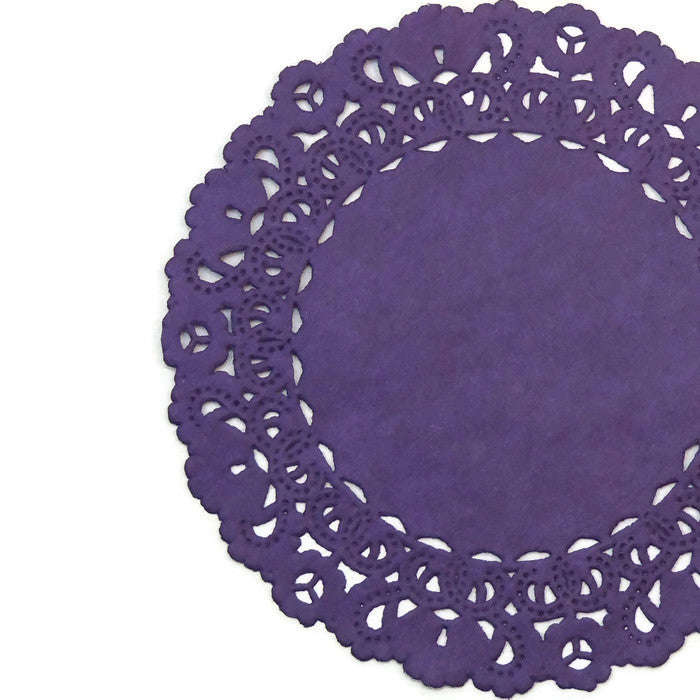 Imperial Purple Normandy Doilies