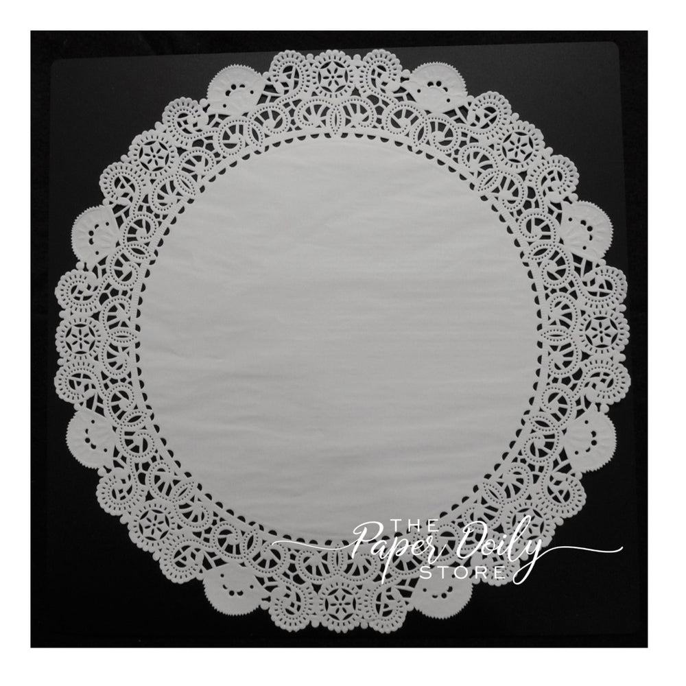 "14"" white paper doilies"