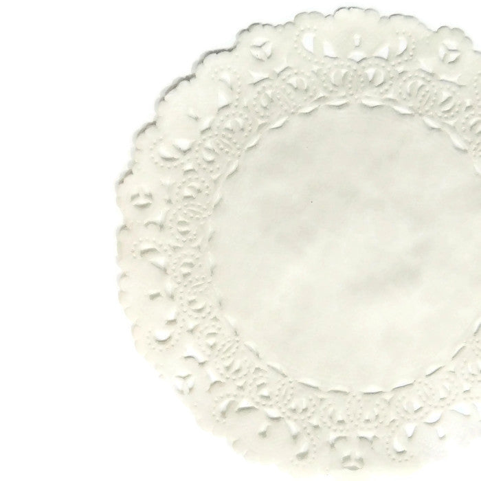 "IVORY Round Paper Doilies | Normandy | Chargers, Placemats, Invitations | 4"", 5"", 6"" 8"", 10"", 12"", 14"", 16"""
