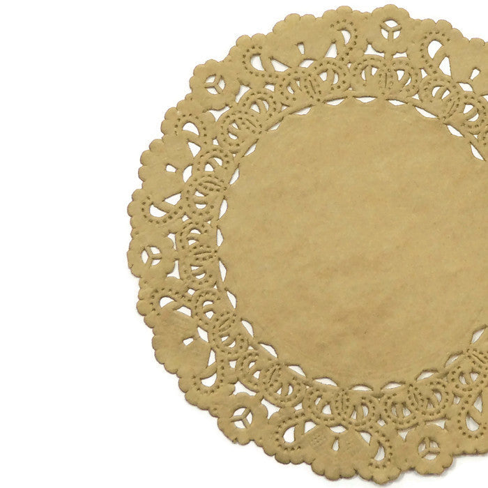 Biscotti gold color paper doilies