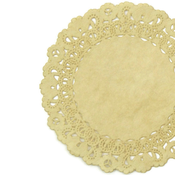 "OATMEAL Round Paper Doilies | Normandy | Chargers, Placemats, Invitations | 4"", 5"", 6"" 8"", 10"", 12"", 14"", 16"""