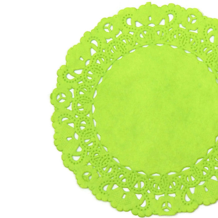 LIME Green Normandy Doilies