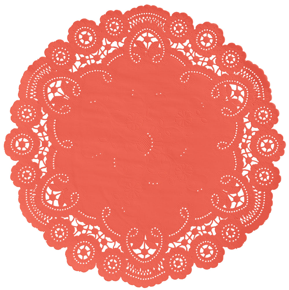 LIVING CORAL French Lace Doilies