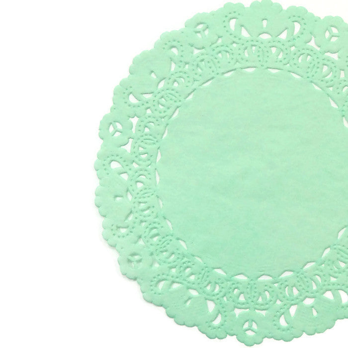 "MINT GREEN Normandy Doilies | 4"", 5"", 6"" 8"", 10"", 12"", 14"", 16"" Sizes"