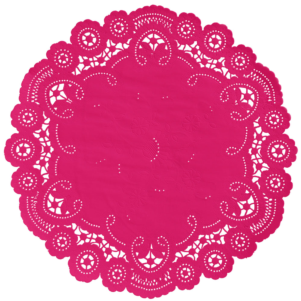 MAGENTA French Lace Doilies
