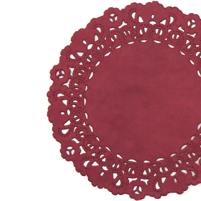 MARSALA RED Normandy Doilies