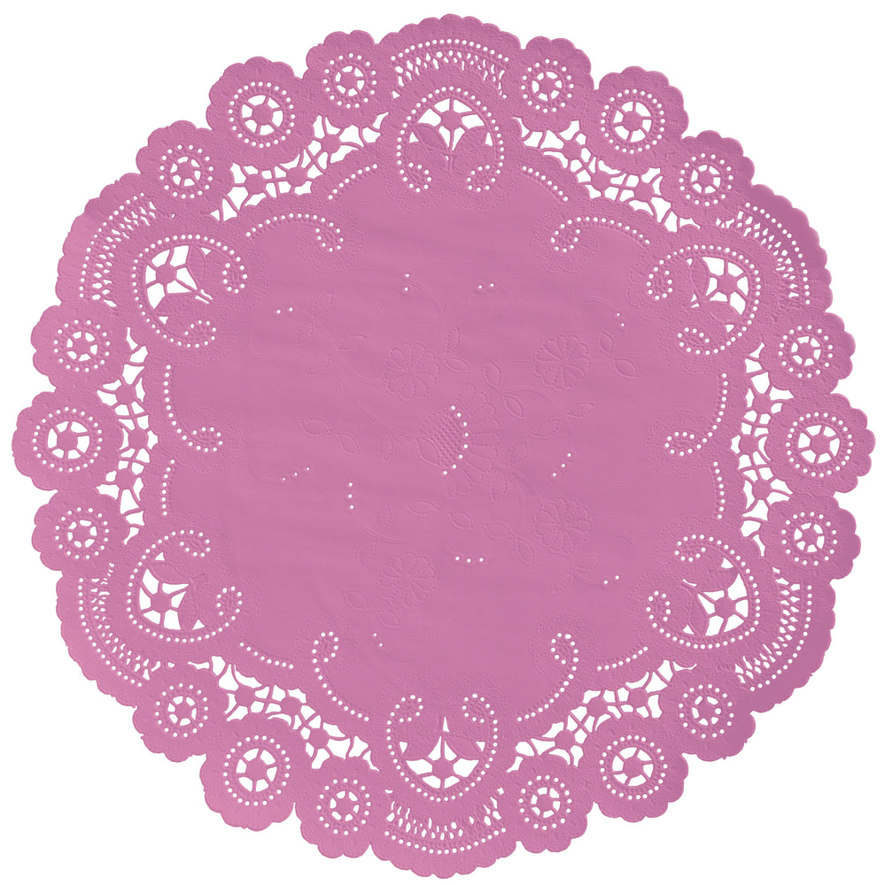 MAUVE ORCHID French Lace Doilies