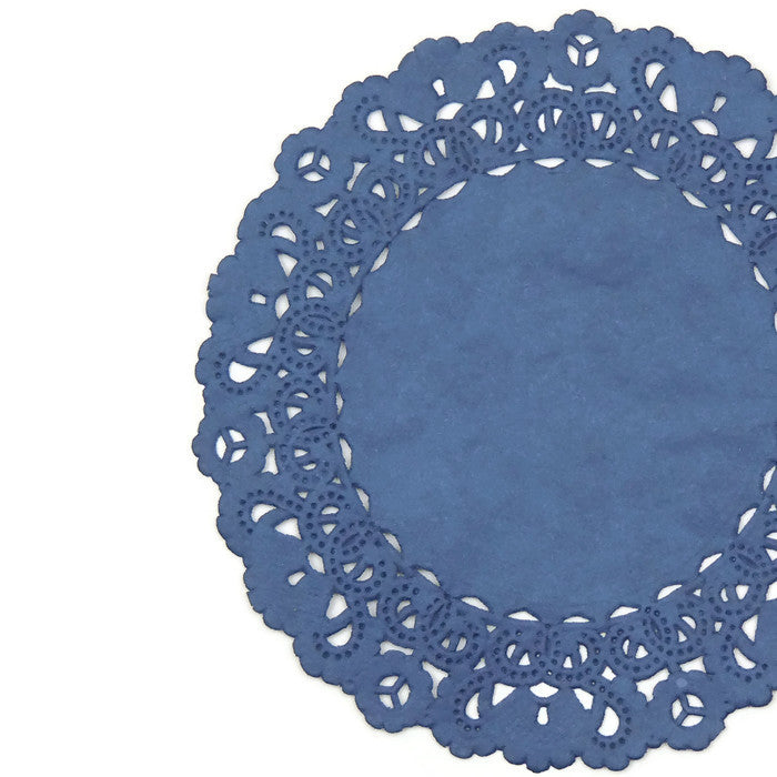 "MIDNIGHT BLUE Round Paper Doilies | Normandy | Blue Chargers, Placemats, Invitations | 4"", 5"", 6"" 8"", 10"", 12"", 14"", 16"""
