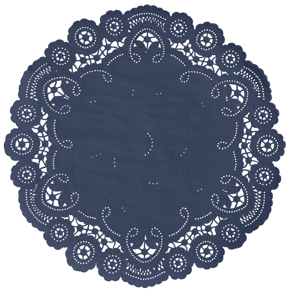MIDNIGHT BLUE French Lace Doilies