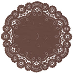 MINK BROWN French Lace Doilies