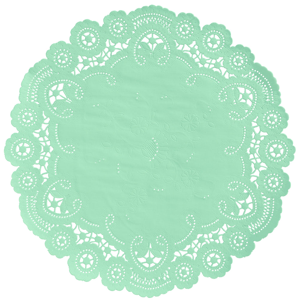 MINT GREEN French Lace Doilies