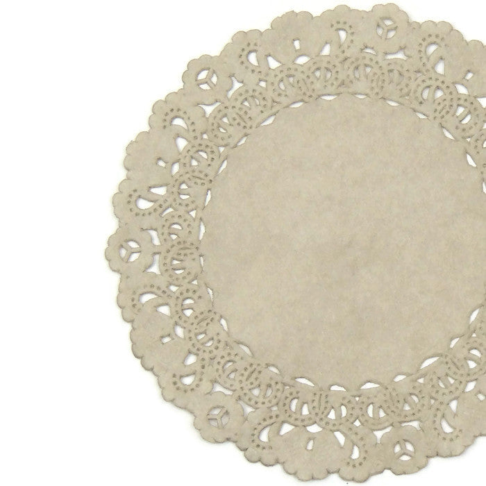 "TAUPE Round Paper Doilies | Normandy | Chargers, Placemats, Invitations | 4"", 5"", 6"" 8"", 10"", 12"", 14"", 16"""
