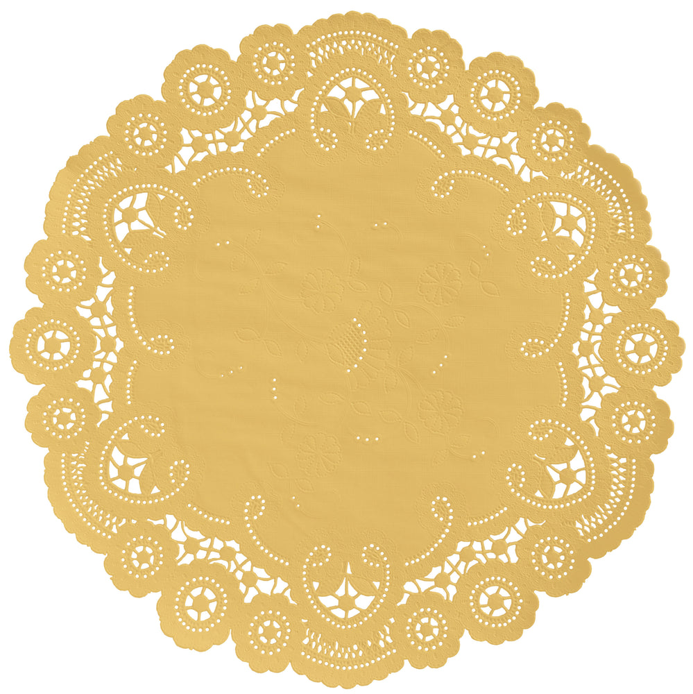 MUSTARD YELLOW French Lace Doilies