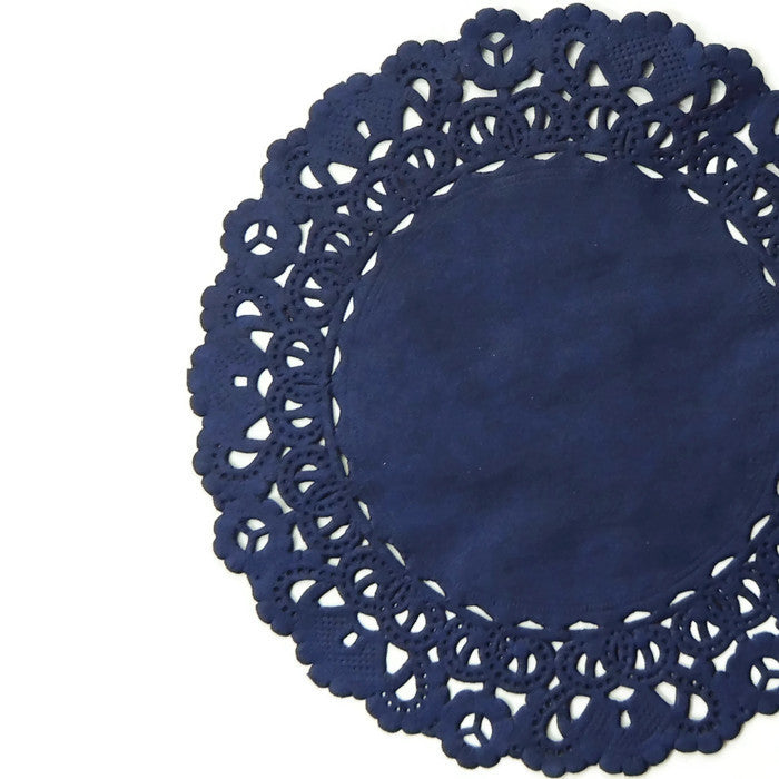 NAVY BLUE Normandy Paper Doilies