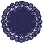 NAVY BLUE French Lace Doilies