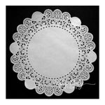 "8"" white paper doilies"