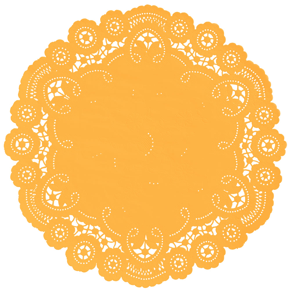 ORANGE SORBET French Lace Doilies