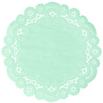 PALE MINT French Lace Doilies