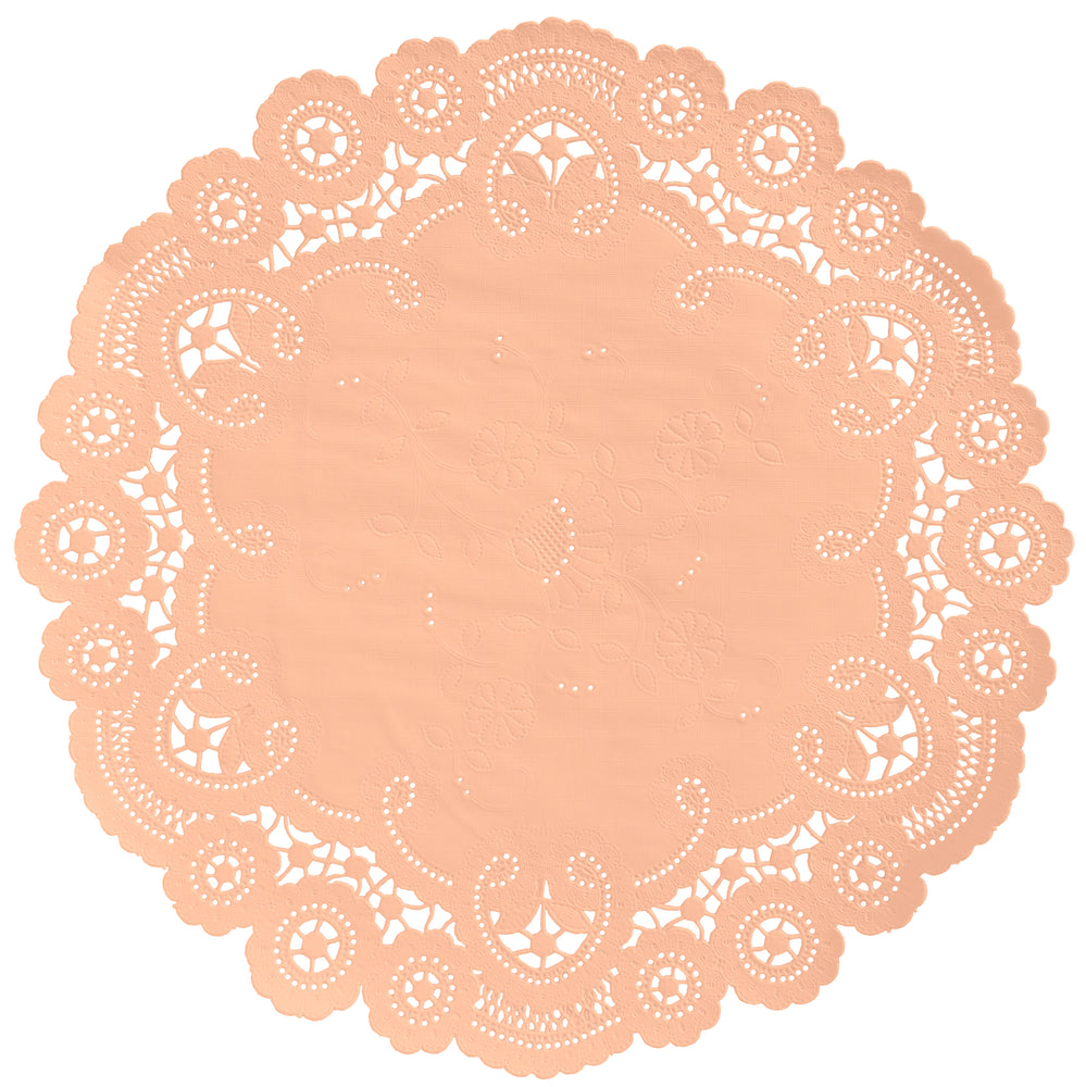 PEACH French Lace Doilies