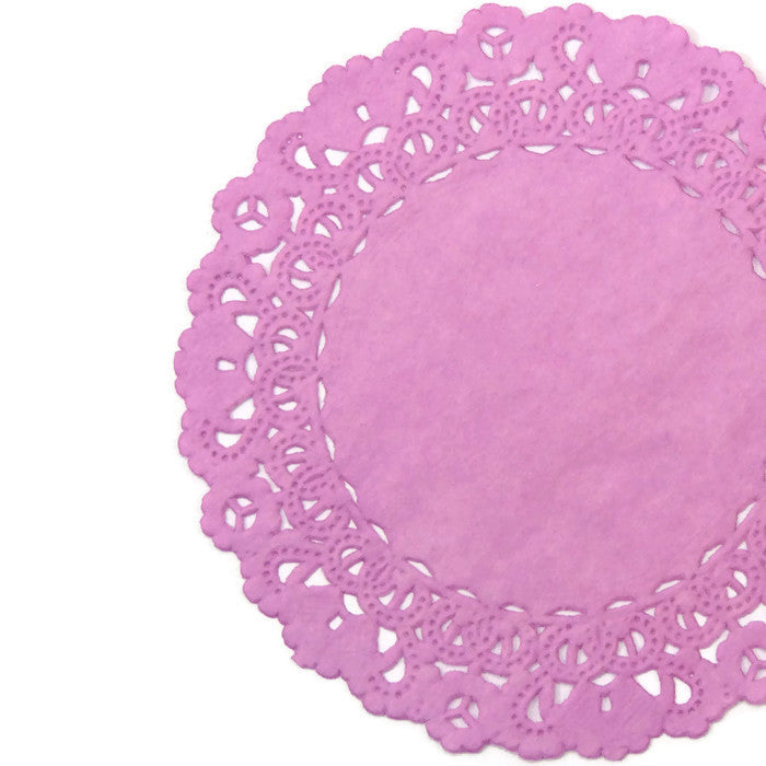 "PEONY PINK Round Paper Doilies | Normandy | Chargers, Placemats, Invitations | 4"", 5"", 6"" 8"", 10"", 12"", 14"", 16"""