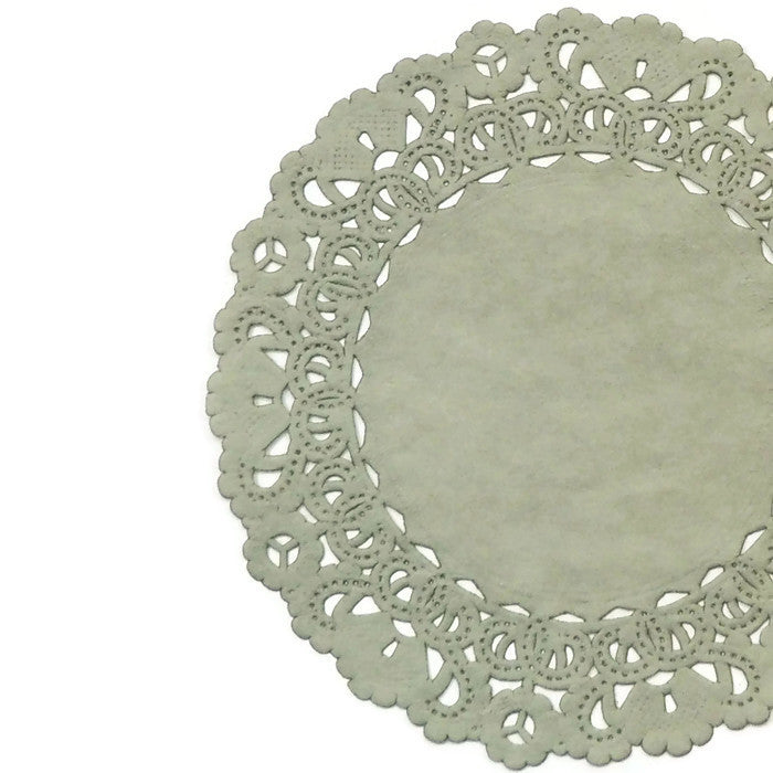 "PEWTER GRAY Round Paper Doilies | Normandy | Chargers, Placemats, Invitations | 4"", 5"", 6"" 8"", 10"", 12"", 14"", 16"""