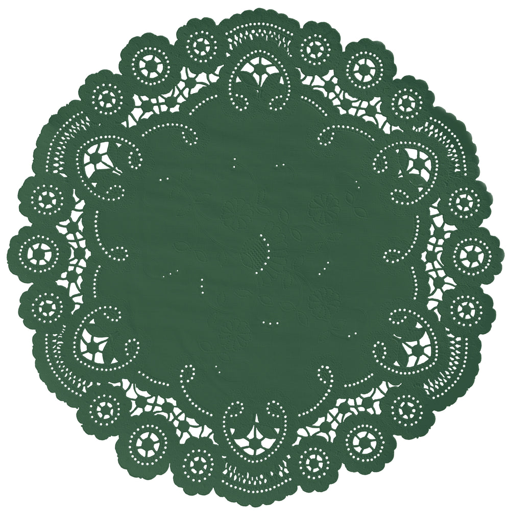 PINE GREEN French Lace Doilies
