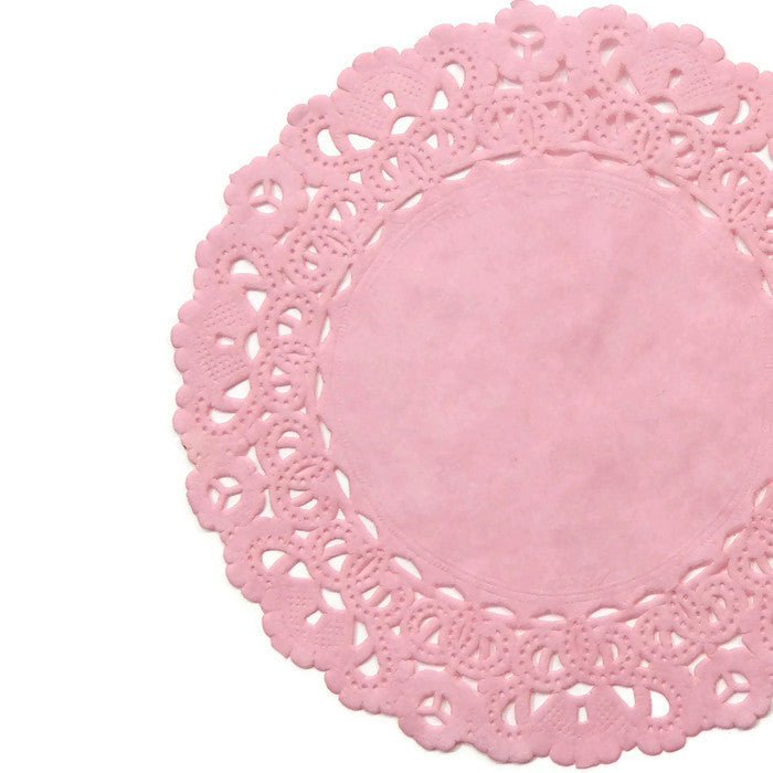Cotton Candy Pink Normandy Doilies