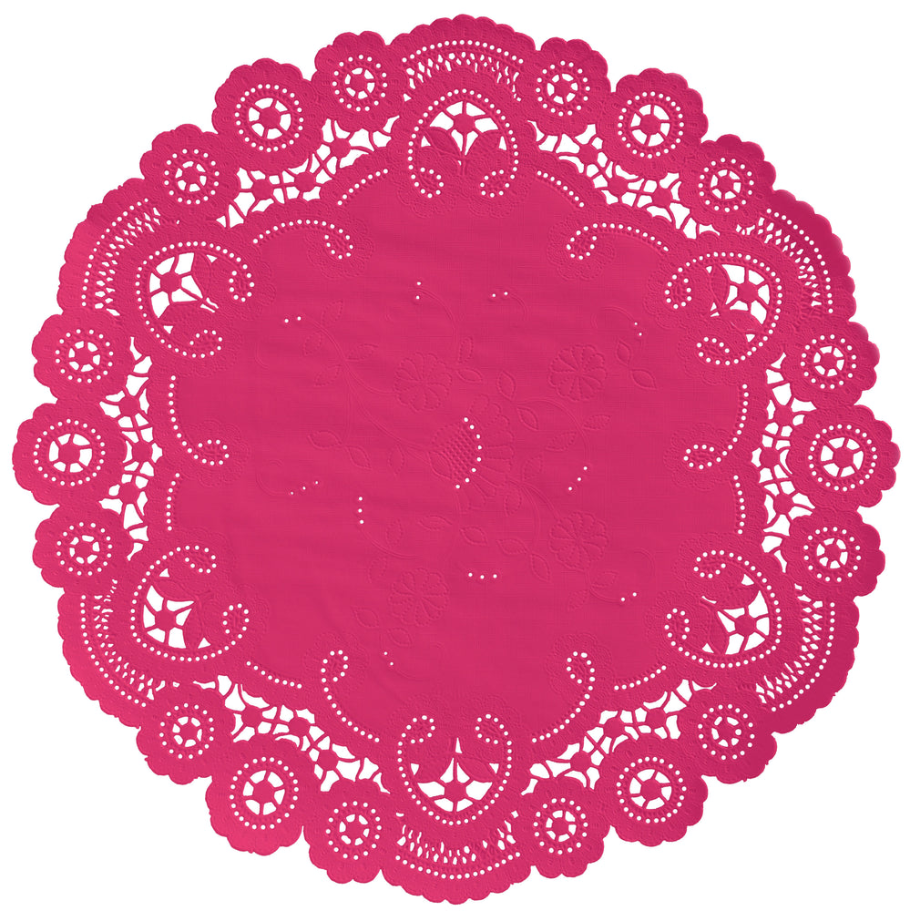 PUNCH PINK French Lace Doilies