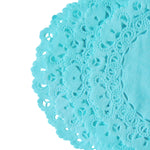 Robin egg blue color doily are perfect for Easter table decorations