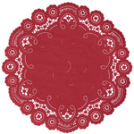 RIBBON RED French Lace Doilies