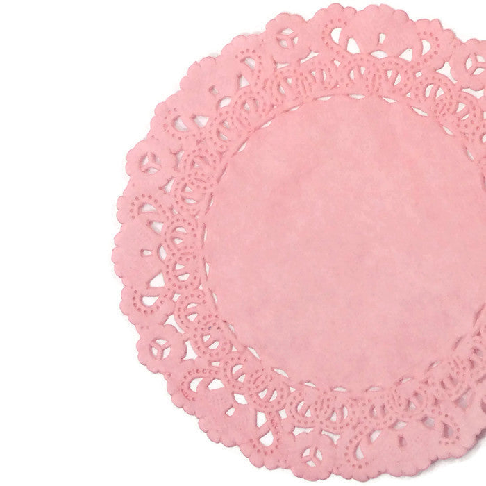 Rose Bud Pink Normandy Doilies