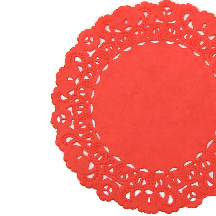 Rose Red Normandy Doilies