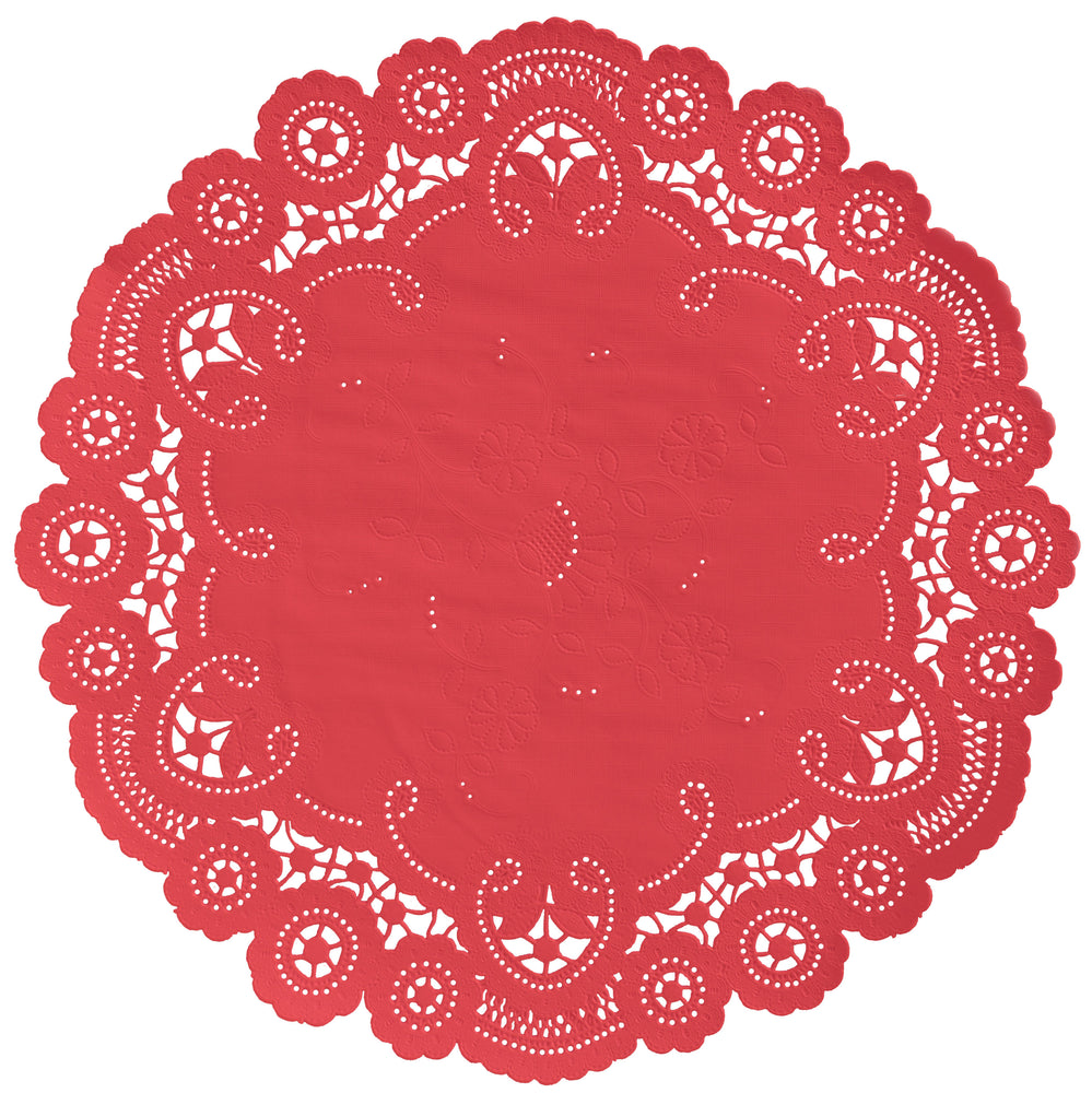 ROSE RED French Lace Doilies