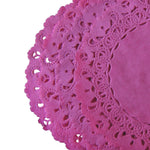 "ROSE PINK Round Paper Doilies | Normandy | Chargers, Placemats, Invitations | 4"", 5"", 6"" 8"", 10"", 12"", 14"", 16"""