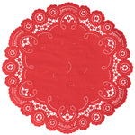 ROUGE RED French Lace Doilies