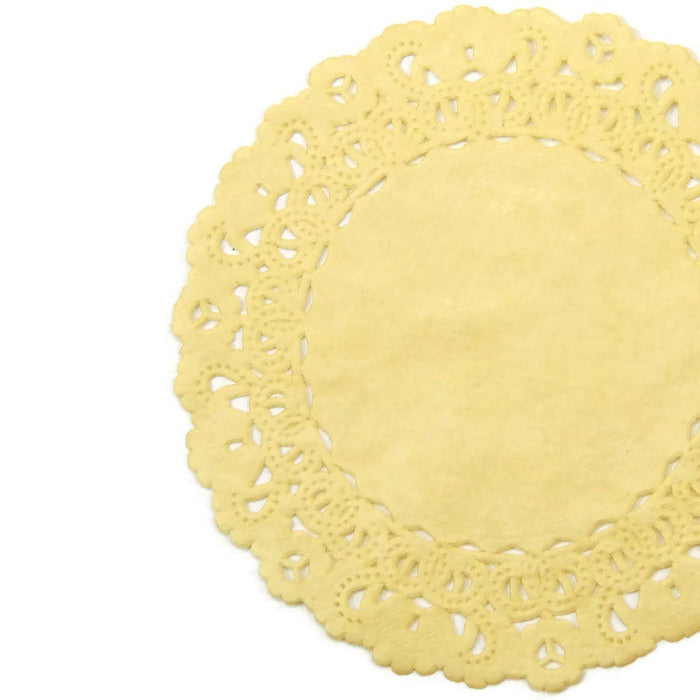 Saffron Yellow Normandy Doilies