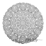 "Stunning 12"" silver medallion doilies perfect for charger placemat"