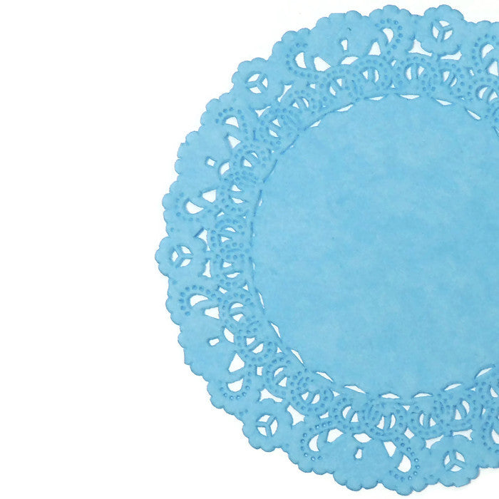 Sky Blue Normandy Doilies