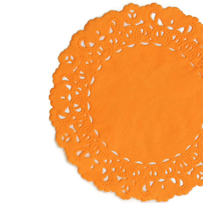 ORANGE SORBET Normandy Doilies